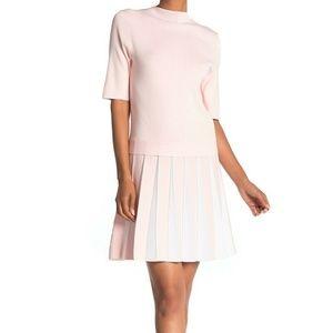 NWT TED BAKER HETHIA PLEATED PINK DRESS  US 10 (4)